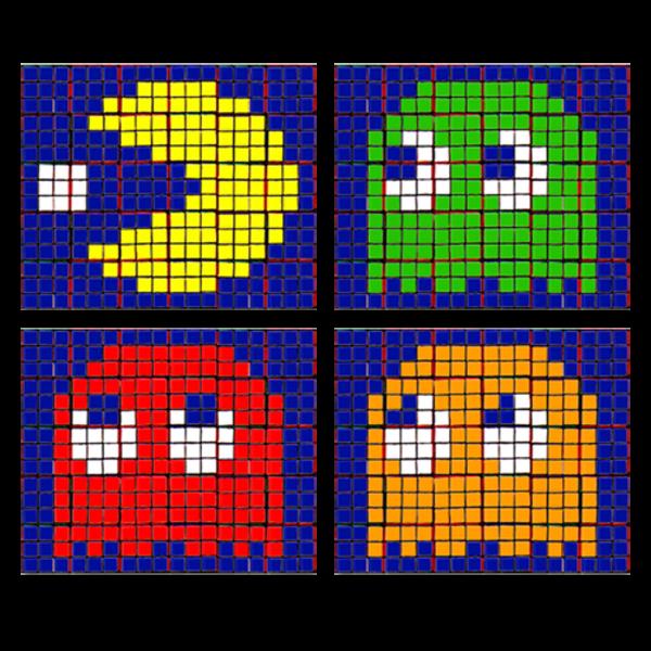 Rubik's Cube 'Pacman' Set Art | Portraits and Stuff