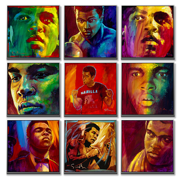 The Muhammad Ali Wall - 9 print collection
