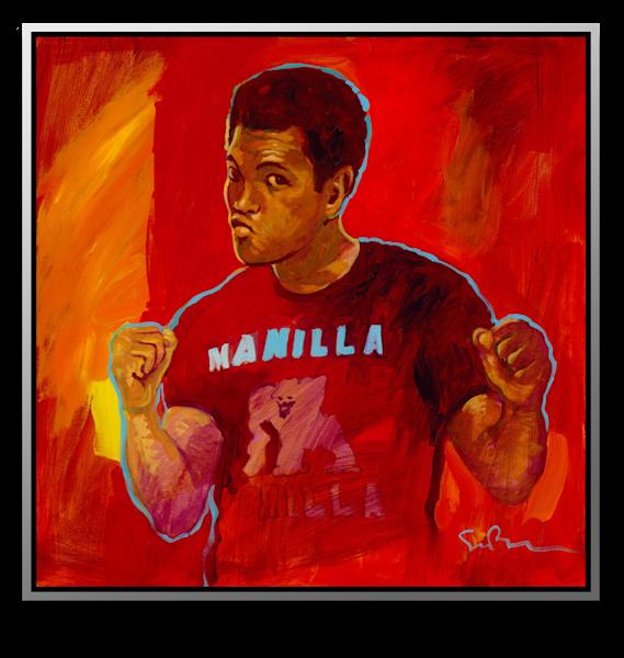 Manilla Gorilla - metal print