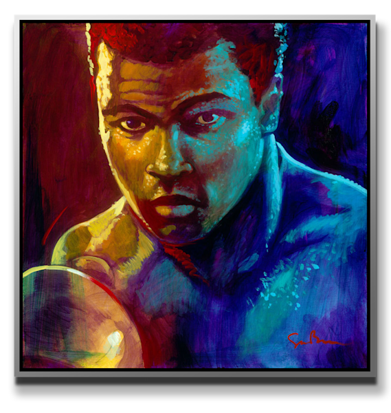 The Champ - metal print
