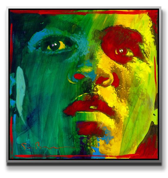 Ali (Green)   Metal Print Art | MEUSE Gallery