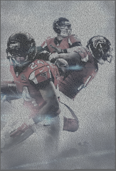 Unique Falcons portrait made using only player information and game stats