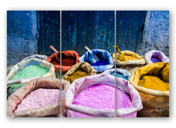 Dyes Morocco triptych