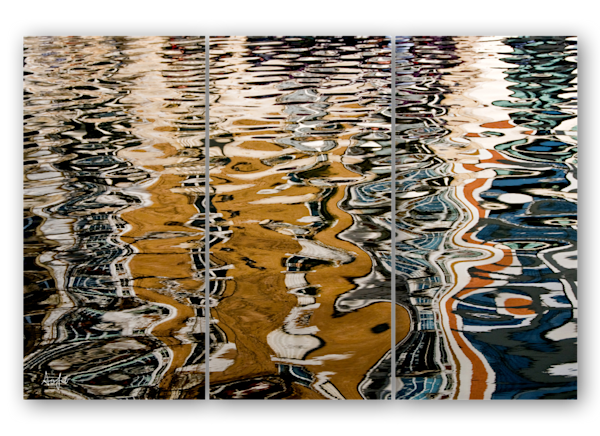 Water Ripples in Paris triptych