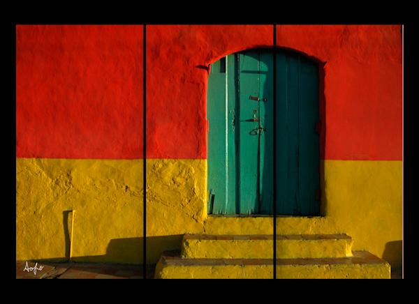 Nicaragua Colonial Door triptych