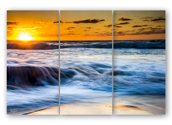Arniston Beach Sunrise triptych