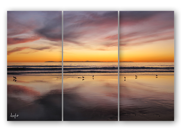 Newport Beach Sunset triptych