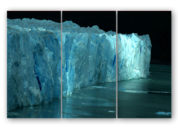 Perito Moreno Glacier Triptych Photography Art | Avner Ofer Photography
