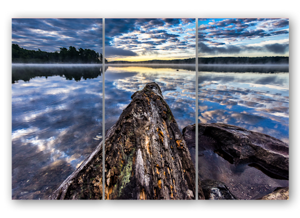 Algonquin sunrise in triptych