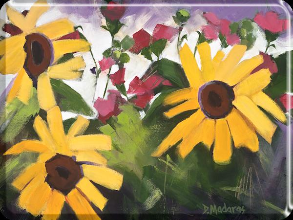 Three Sunflowers Decorative Cutting Board