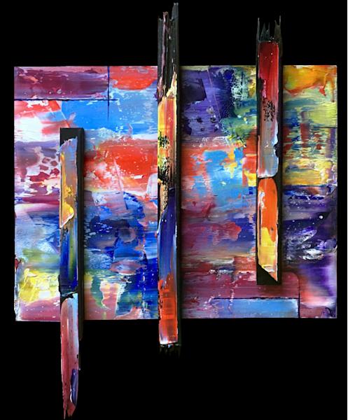 Break Free assembled sculptural painting
