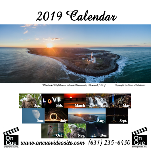 2019 12 month calendar by photographer Steven Archdeacon.