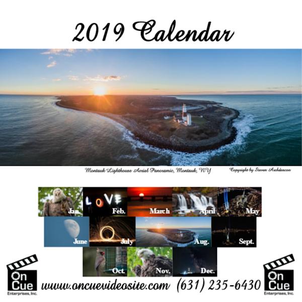2019 12 month calendar by photographer Steven Archdeacon.