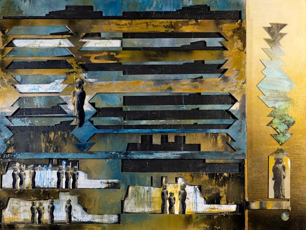 Recycled Art- Blue Exodus
