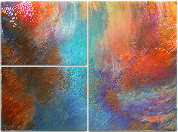 Origins Triptych multi-panel large print