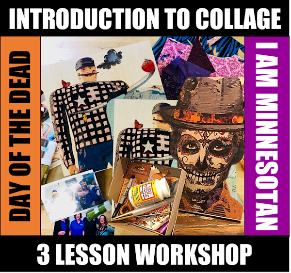 16, 23, 30 January - 3 LESSON COLLAGE COURSE