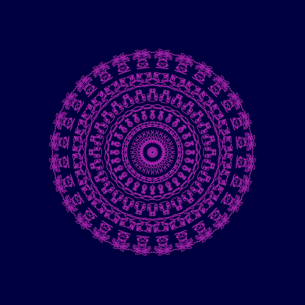 Reiki in Purple and Blue