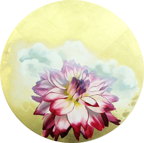 The Cloud Hugs Sheila's Dahlia Art | FitzgeraldArt