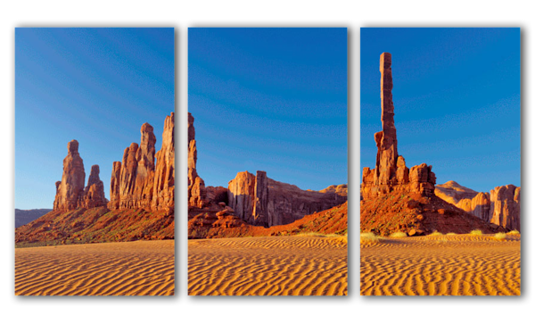 """Yea Bi Chie Totem Pole"" - triptych canvas art by Fred Neveu Photography"