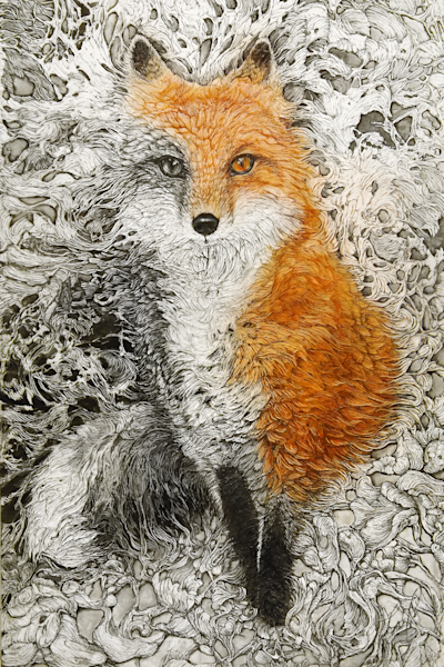 Vixen, Fox | Col Mitchell Contemporary Paper Artist