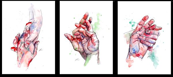 Valentines Paper Print - Set of 3