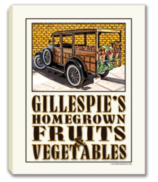 Fruits & Veggies Canvas Sign | J Edgar Cool