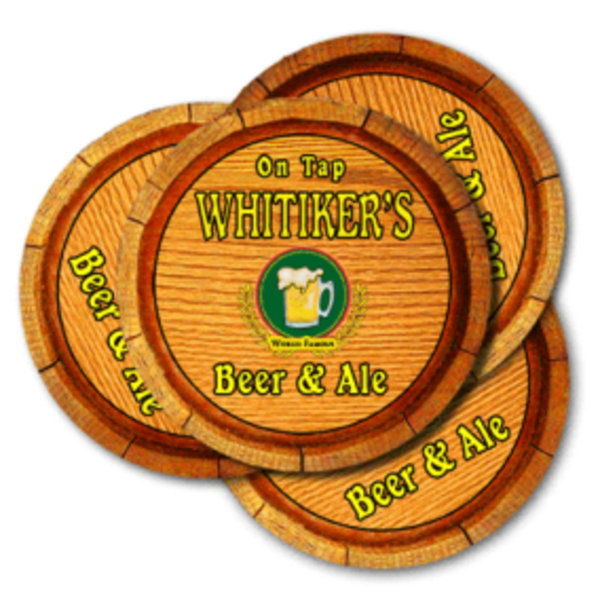 Wooden Keg Beer & Ale Coasters | J Edgar Cool