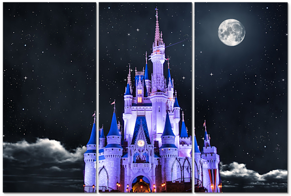 Cinderella White Moon - Disney Canvas Artwork | William Drew