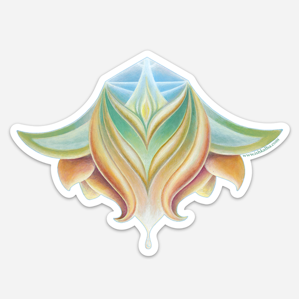 Lotus Nectar - Visionary Art Sticker by Ishka Lha