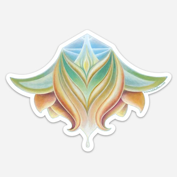 Lotus Nectar - Visionary Art Sticker by Ishka Lha