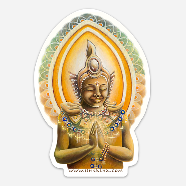 Bodhisattva's Dream - Visionary Art Sticker by Ishka Lha