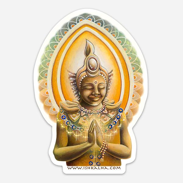 Bodhisattva's Dream - Visionary Art Sticker by Ishka Lha