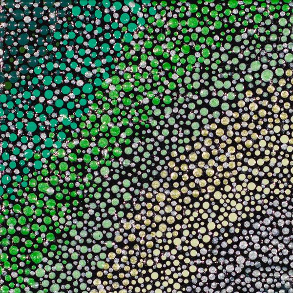 Green Stars Print