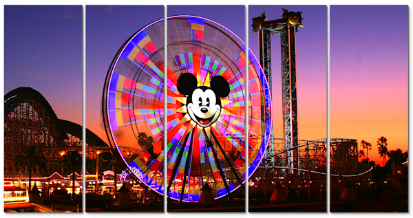 Mickey's Fun Wheel - Disneyland Wall Art - William Drew