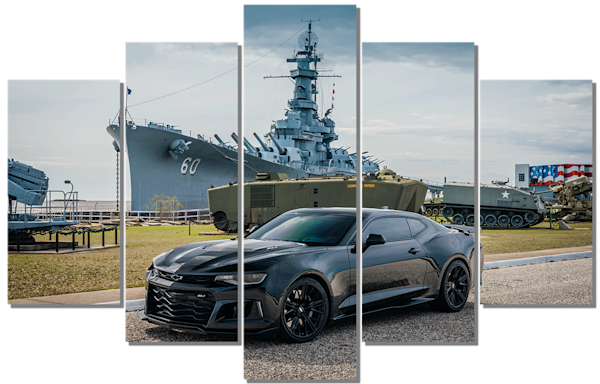 Camaro Zl1 Pentaptych Photography Art by Deep South Focus Photography