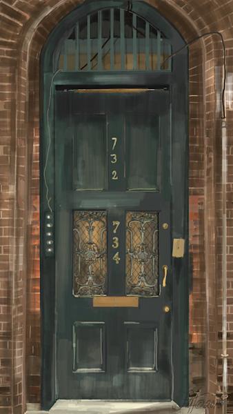 New Orleans Door Art | Leslie's Art Studio