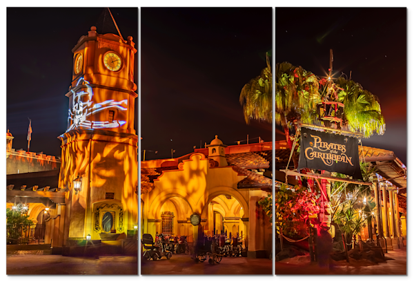 Pirates of the Caribbean Halloween - Triptych Wall Art