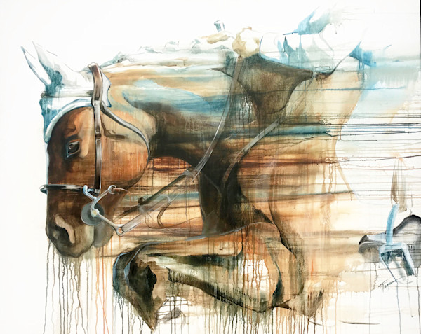 Double Clear | Jumping Horse | Cross Country Horse | World Equestrian Games | Acrylic Painting | Tammy Tappan Art