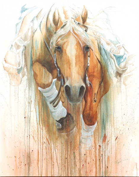Comin For Ya | Reining Horse | Western Horse | World Equestrian Games | Acrylic Painting | Tammy Tappan Art