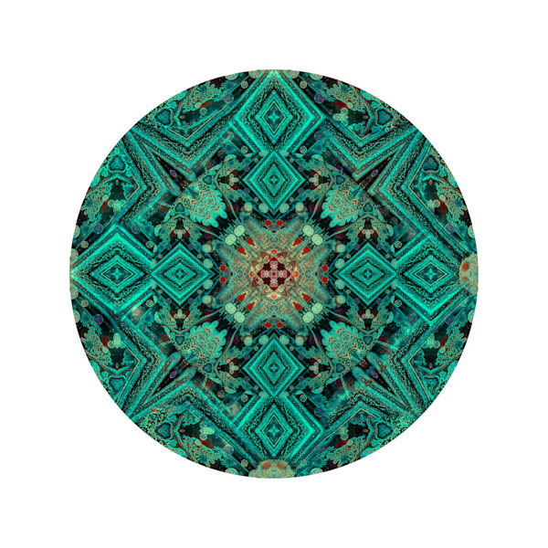 Acid Diamond Teal M1 - Modern Mandala | A Psychedelic Art Project by Cameron Emmanuel
