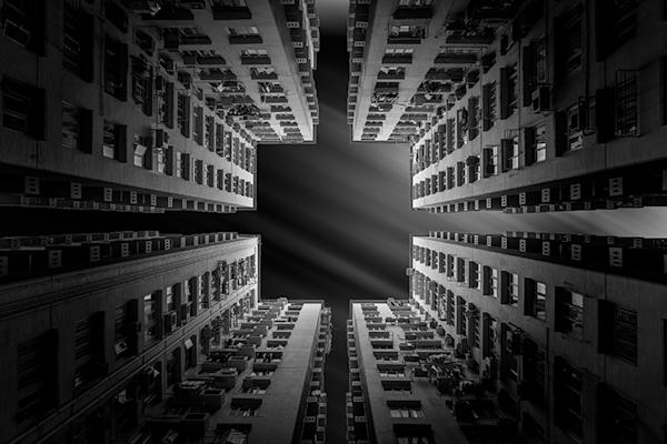 Achitecture by night | Koop kunstfotografie print online | A-Galleria