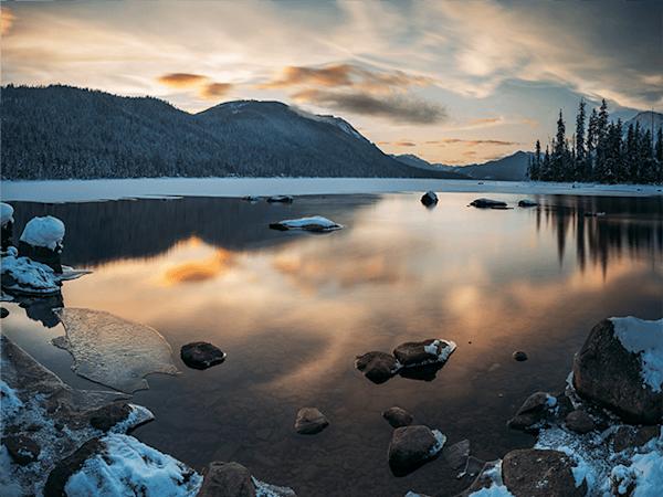 A Mirror lake | Koop kunstfotografie print online | A-Galleria