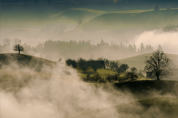 Mountain Fog | Koop kunstfotografie print online | A-Galleria