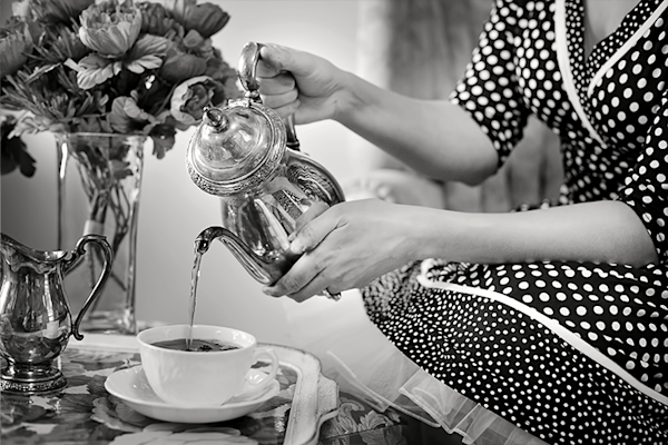 Retro tea party | Koop kunstfotografie print online | A-Galleria