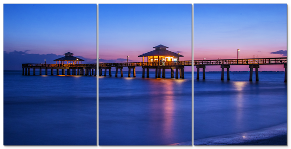 Dusk at the Pier - Florida Wall Art | William Drew Photography
