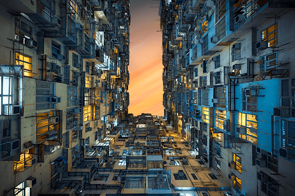 Real world Tetris | Beperkte oplage kunst print | A-Galleria