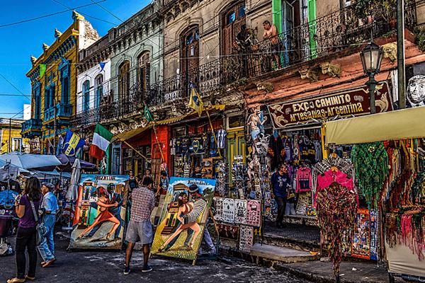 Barrio de la Boca | Beperket oplage kunst print | A-Galleria