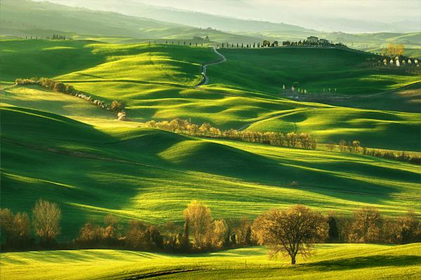 Spring on hills | Koop exclusieve kunstfoto print online | A-Galleria