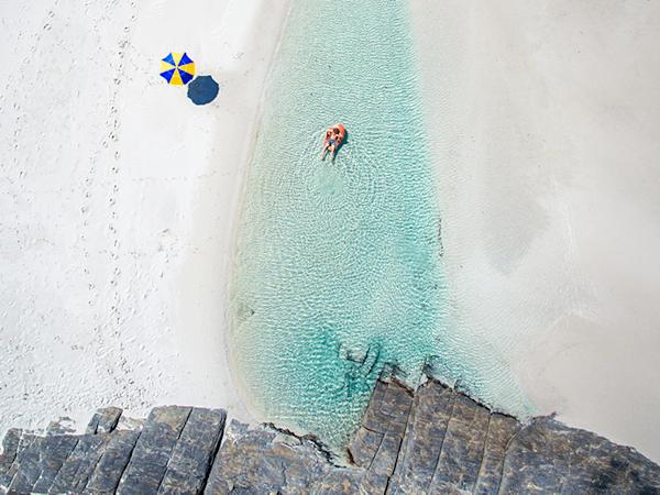 A summertime beach lagoon | Koop exclusieve kunstfoto print online | A-Galleria