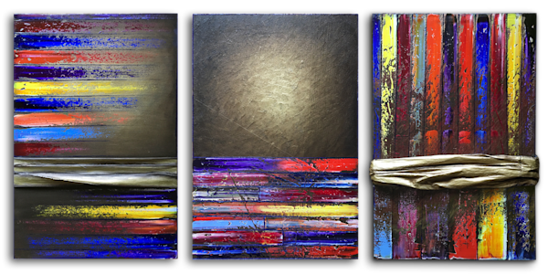Golden Years PMS triptych paintings